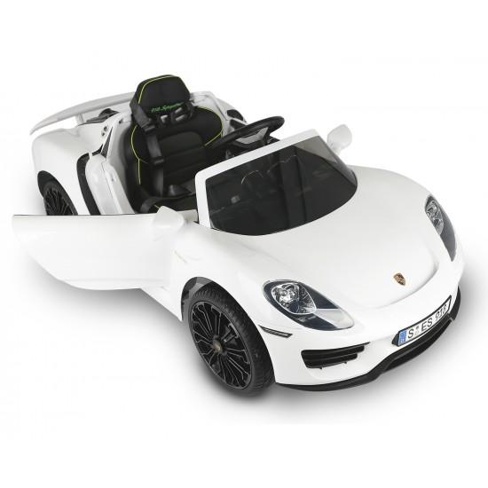 Акумулаторна кола Porsche 918 spyder hybr superc, 12v, rc, white