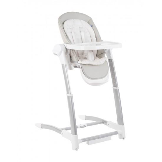 Бебешка люлка/столче за хранене 3в1 Prima Grey
