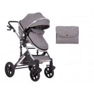 Комбинирана количка 2 в 1 с трансф.седалка Darling Dark Grey 2020