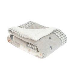 Супер меко бебешко одеяло с шерпа Polar Fisher 80/110 см сиво
