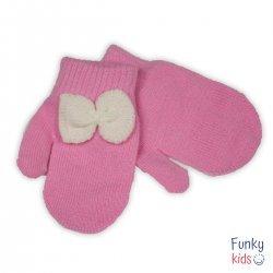 Розови ръкавички с панделка