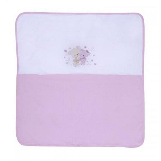 LORELLI CLASSIC Пелена от памучно трико двойна 90x90, 100% памук, Цвят: Розов