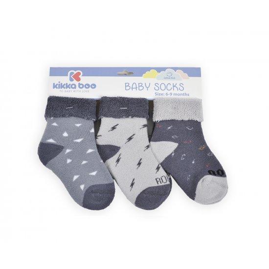 Бебешки памучни термо чорапи 6-9 месеца момчета