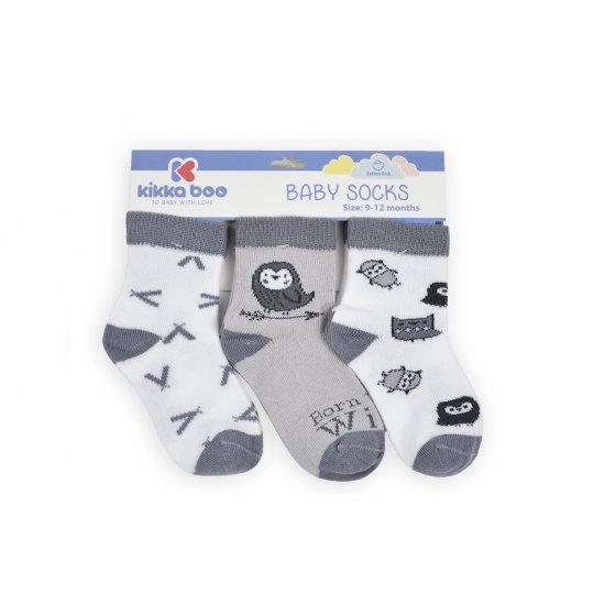Бебешки памучни чорапи 6-9 месеца унисекс