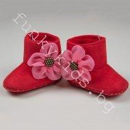 Буйки тип ботуш с розово цвете - червени