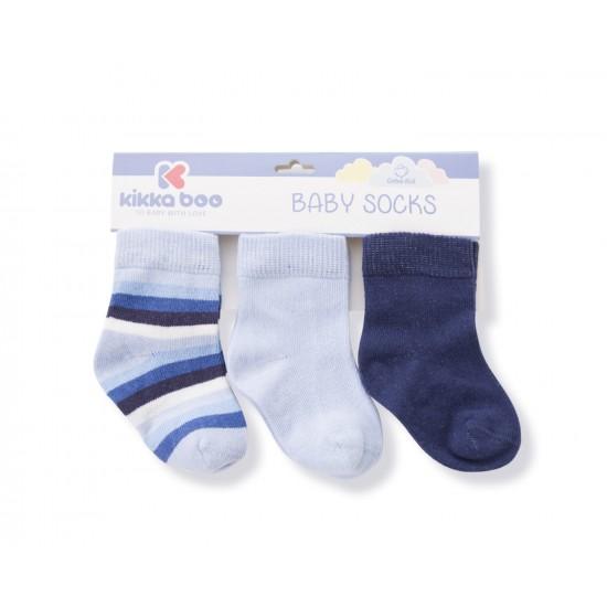 Бебешки памучни чорапи STRIPES DARK BLUE 0-6 месеца