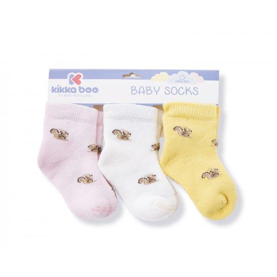 Бебешки памучни термо чорапи SQUIRREL PINK 6-12 месеца