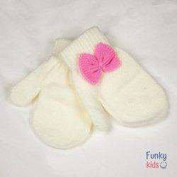 Бели ръкавички с панделка
