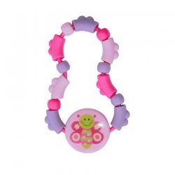 Lorelli Baby Care, Rattle-Teether Twist Дрънкалка гризалка Туист, Цвят: Розов