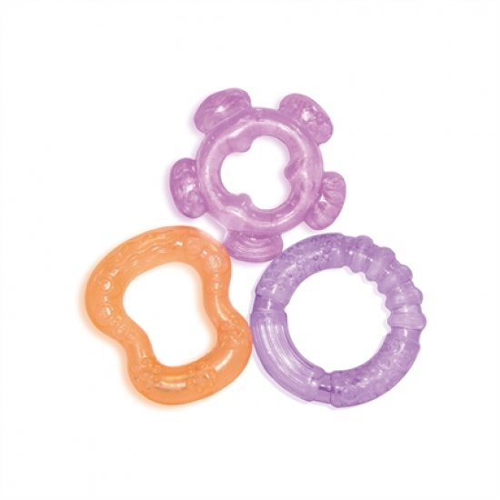 Bertoni Baby Care, Water Filled Teethers - Гризалки комплект 3 броя, Цвят: Розов, Лилав, Оранж