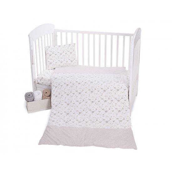 Бебешки спален комплект трико 4 части Monkey Beige 70/140