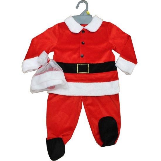 Бебешки плюшен коледен комплект от 3 части - Дядо Коледа