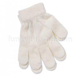 Детски ръкавици кремави
