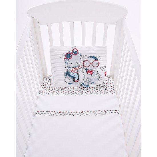 Бебешки спален комплект 3 части EU style 70/140 Love Rome