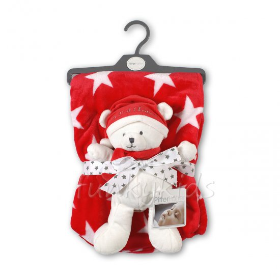 Коледно пухено одеало с играчка - Коледна Звезда