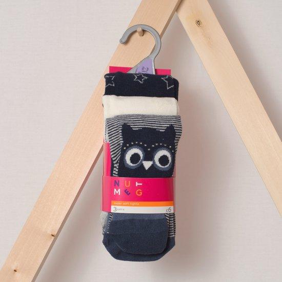 Комплект детски чорапогащници Бухал