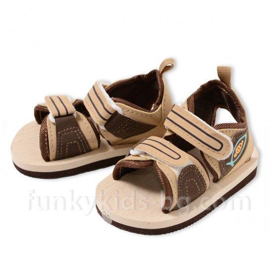 Летни сандали за момче - бежови