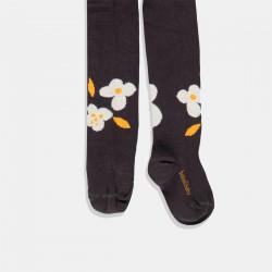 Чорапогащник с цветя - Антрацит