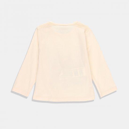 Boboli блуза в екрю с дълъг ръкав