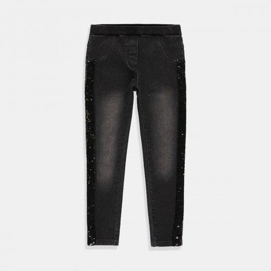 Дънков панталон в черен деним Boboli