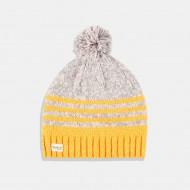 Boboli Топла зимна шапка в цвят горчица