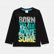 Черна блуза Born to be Awesome