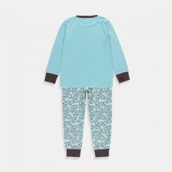 Пижама Boboli за момче в синьо-зелено