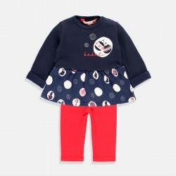 Пижама Boboli за момиче в червено и синьо