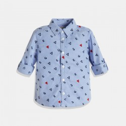 Стилна синя риза GUESS