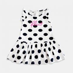 Бяла рокля със сини точки i DO
