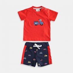 Комплект i DO в червено и синьо за бебе момче