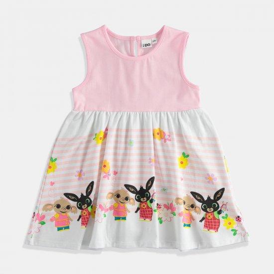 Детска рокля в млечно розово Bing