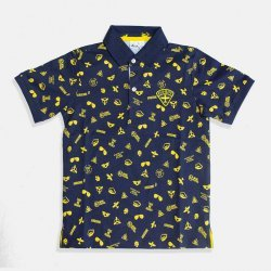 Стилна тениска с яка в тъмно синьо i DO