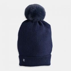 Тъмно синя шапка iDO