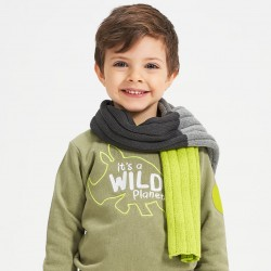 Трицветен шал iDO за момче