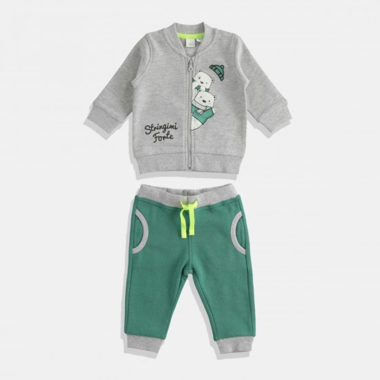 iDO комплект за момче в сиво и платинено зелено
