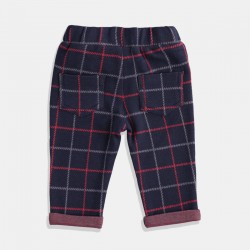 Панталон iDO каре  в синьо и червено