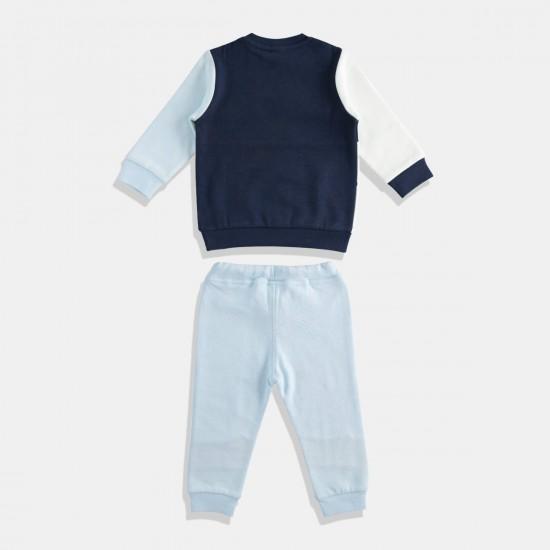 iDO комплект за момче в синьо и бяло