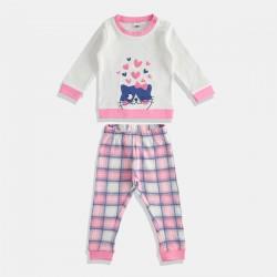 iDO пижама за момиче в розово и бяло