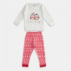 iDO пижама за момиче в червено и бяло