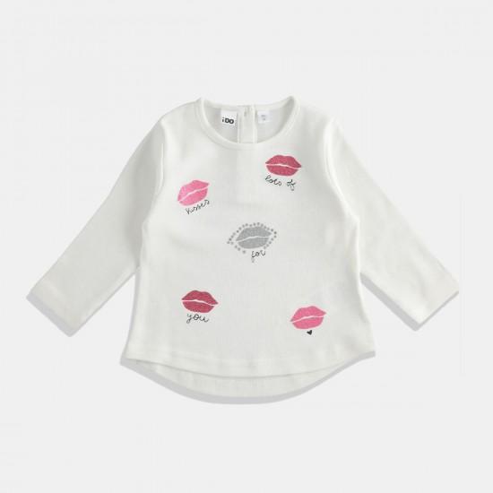 iDO бяла блуза - целувки
