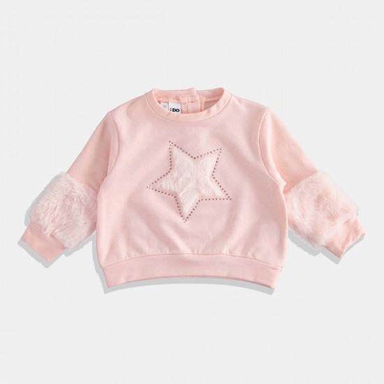 iDO блуза в розово - звезда