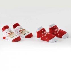 Коледен сет чорапи в червено
