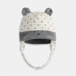 Сет от шапка и терлички  в сиво и екрю iDO