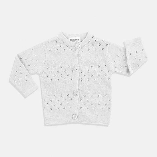 Бебешка жилетка в бяло