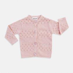 Бебешка жилетка в розово