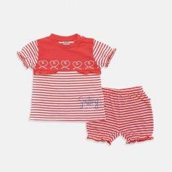 Детска пижама бяло и червено