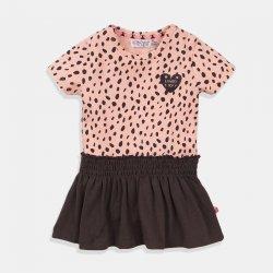 Детска рокля Dirkje прасковено и сиво