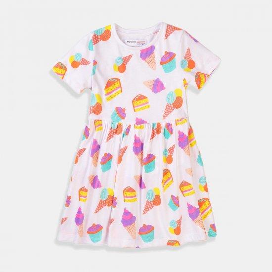 Детска бяла лятна рокля