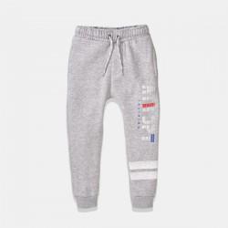 Minoti спортен панталон в сиво с бели надписи